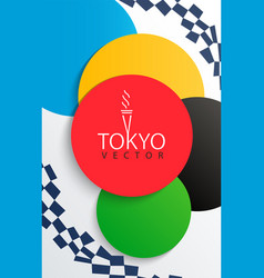 Flyer for 2020 games in japan vector
