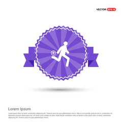 football player icon - purple ribbon banner vector image