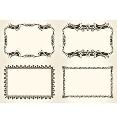 frameworks set Ornate and vintage design elements vector image vector image