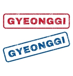 Gyeonggi Rubber Stamps vector image
