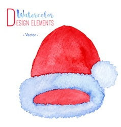 Hand painted Santa Claus red hat vector