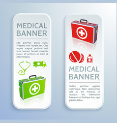 healthcare colorful vertical banners vector image