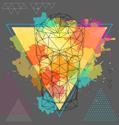 hipster polygonal cocktail long island vector image