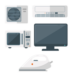 home appliances domestic household vector image