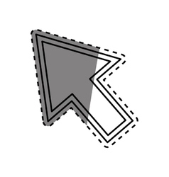 Isolated click cursor vector