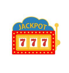 jackpot on a slot machine vector image