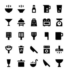 Kitchen Utensils Icons 2 vector image