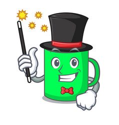 Magician mug mascot cartoon style vector