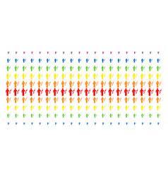 Medic shape halftone spectrum pattern vector