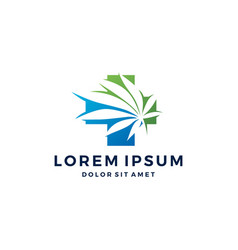 medical cannabis logo hemp leaf icon download vector image