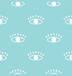 modern seamless pattern with hand drawn eyes vector image