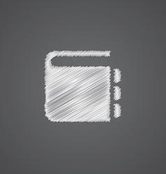 Notepad sketch logo doodle icon vector