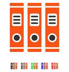 office books flat icon vector image