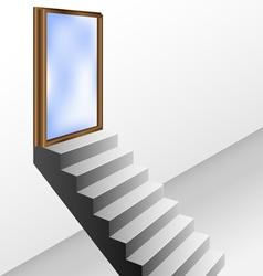 Open door with stairs vector image