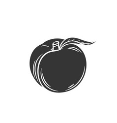 Peach glyph icon vector