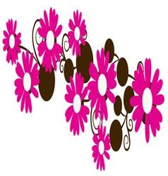 Pink Daisies vector
