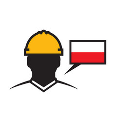 Polish contractor icon vector