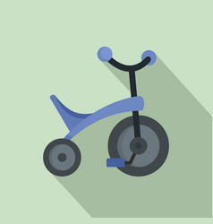 purple tricycle icon flat style vector image