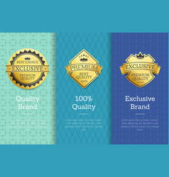 quality brand exclusive brand best choice labels vector image