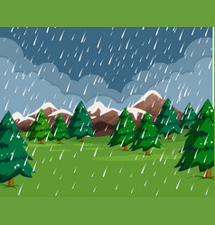 raining in rain scene vector image