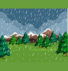 Raining in the rain scene vector