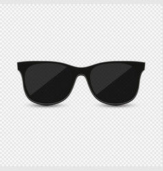 Realistic sunglasses on background vector