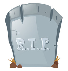 Rest in peace on grave stone vector
