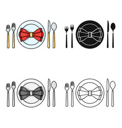 Restaurant table cartoonting icon in cartoon style vector