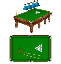 russian billiard vector image