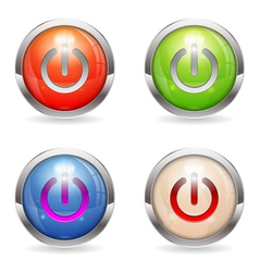 Set Gloss button with Switch vector image