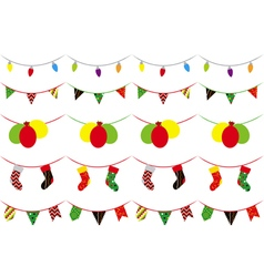 Set of 5 patterns brush Christmas party vector
