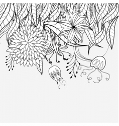 sketch with floral ornament vector image