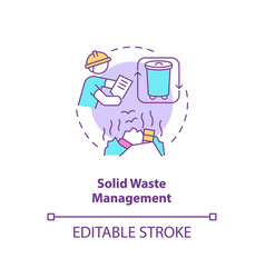 Solid waste management concept icon vector