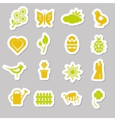 Spring stickers vector