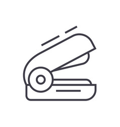stapler line icon sign on vector image vector image