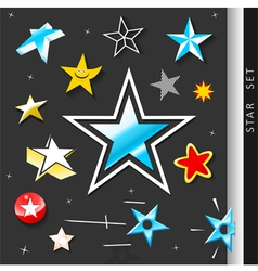 Star symbol set vector image