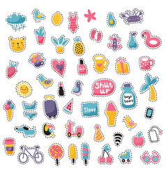 Stitched patches vector
