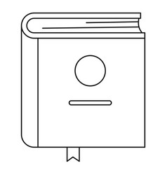 study icon outline style vector image