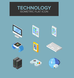 technology isometric icon vector image