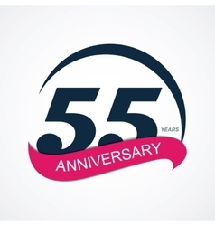 Template Logo 55 Anniversary vector image