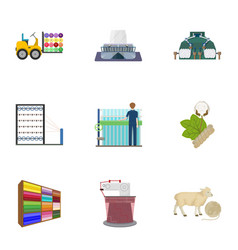 Textiles industry tissue and other web icon in vector