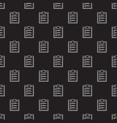 to do list dark outline seamless pattern vector image