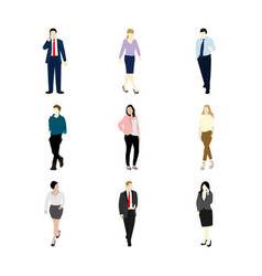 various business people set vector image