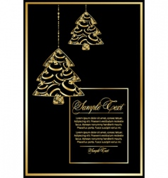 vector illustration with Christmas tree vector image