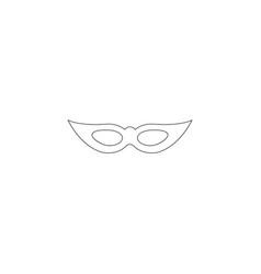 venetian carnival mask flat icon vector image