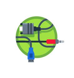 wires computer connectors vector image