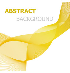 yellow line wave abstract background vector image