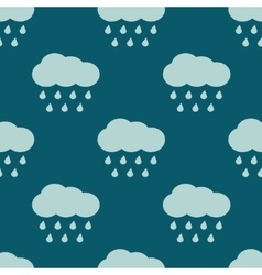 clouds and rain weather seamless pattern vector image
