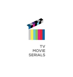 Logo for online TV movie serials vector image vector image
