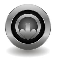 Metallic logout button vector image vector image